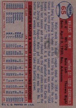 1957 Topps #65 Wally Moon back image