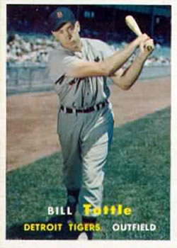 1957 Topps #72 Bill Tuttle