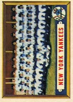1957 Topps #97 New York Yankees TC
