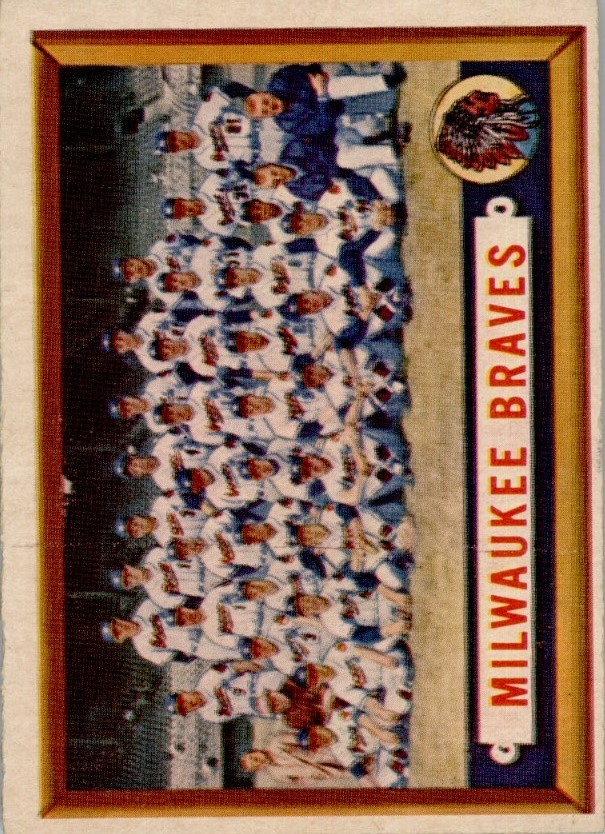 1957 Topps #114 Milwaukee Braves TC