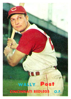 1957 Topps #157 Wally Post