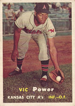 1957 Topps #167 Vic Power