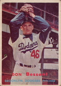 1957 Topps #178 Don Bessent