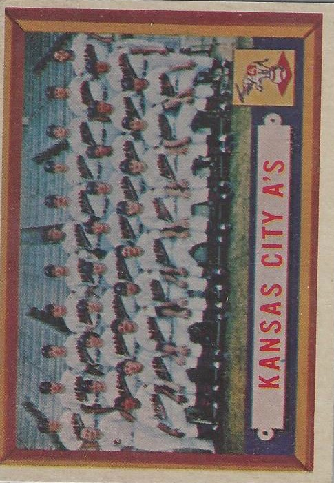 1957 Topps #204 Kansas City Athletics TC