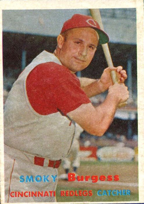1957 Topps #228 Smoky Burgess UER/(Misspelled Smokey/on card back)