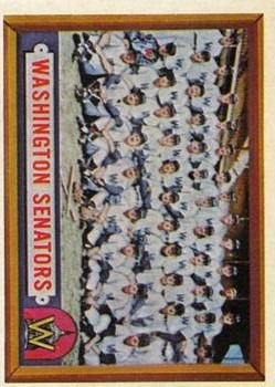 1957 Topps #270 Washington Senators TC