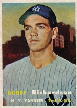 1957 Topps #286 Bobby Richardson RC
