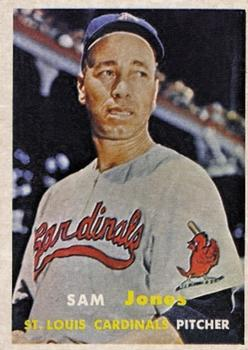 1957 Topps #287 Sam Jones front image