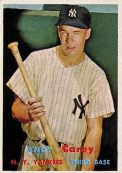 1957 Topps #290 Andy Carey DP