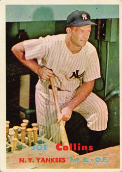 1957 Topps #295 Joe Collins DP