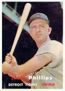 1957 Topps #307 Jack D. Phillips DP