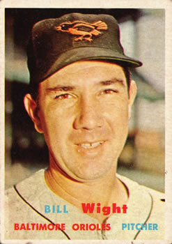 1957 Topps #340 Bill Wight