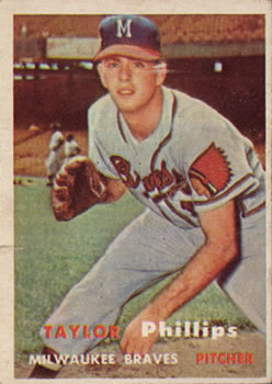 1957 Topps #343 Taylor Phillips RC