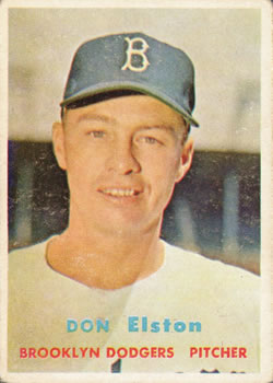 1957 Topps #376 Don Elston RC
