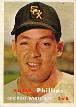 1957 Topps #395 Bubba Phillips