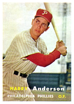 1957 Topps #404 Harry Anderson RC