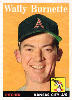 1958 Topps #69 Wally Burnette