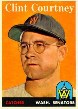 1958 Topps #92A Clint Courtney