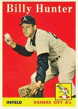 1958 Topps #98A Billy Hunter