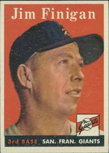 1958 Topps #136 Jim Finigan front image