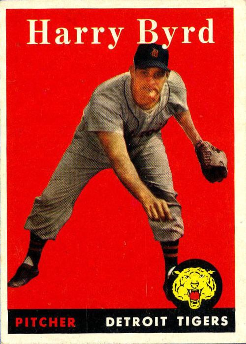1958 Topps #154 Harry Byrd