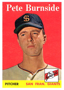 1958 Topps #211 Pete Burnside RC
