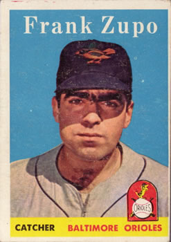 1958 Topps #229 Frank Zupo RC