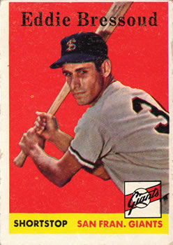1958 Topps #263 Eddie Bressoud RC