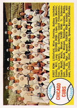 1958 Topps #327 Chicago Cubs TC