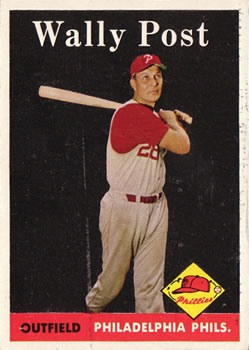 1958 Topps #387 Wally Post