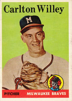 1958 Topps #407 Carlton Willey RC