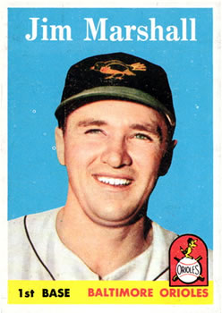 1958 Topps #441 Jim Marshall RC