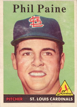1958 Topps #442 Phil Paine RC front image