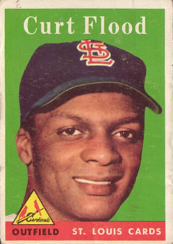 1958 Topps #464 Curt Flood RC