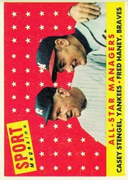 1958 Topps #475 All-Star Managers/Fred Haney/Casey Stengel