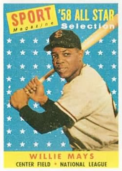 1958 Topps #486 Willie Mays AS