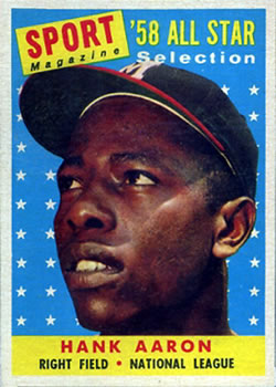 1958 Topps #488 Hank Aaron AS front image