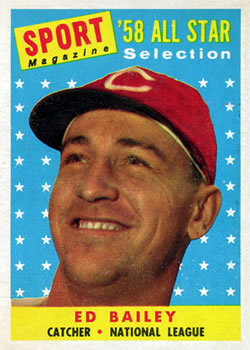 1958 Topps #490 Ed Bailey AS front image