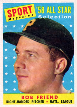 1958 Topps #492 Bob Friend AS
