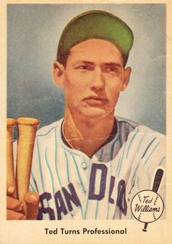 1959 Fleer Ted Williams #6 Ted Turns Pro