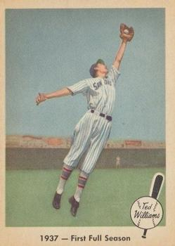 1959 Fleer Ted Williams #8 1937 First Full Season