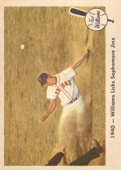 1959 Fleer Ted Williams #15 Licks Sophomore Jinx