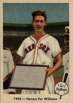 1959 Fleer Ted Williams #21 Honors for Williams