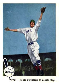 1959 Fleer Ted Williams #43 Double Play Lead