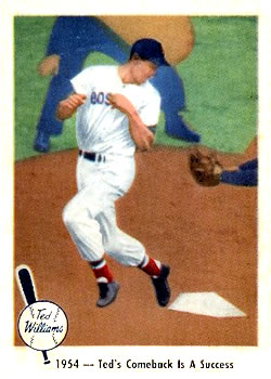 1959 Fleer Ted Williams #53 Comeback is Success