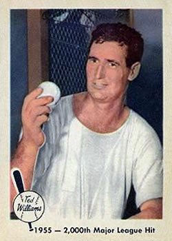 1959 Fleer Ted Williams #56 2,000th Hit 8/11/55