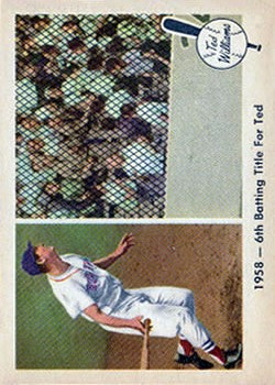 1959 Fleer Ted Williams #62 1958 Sixth Batting Title
