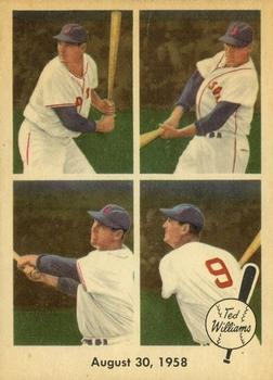 1959 Fleer Ted Williams #65 1958 August 30