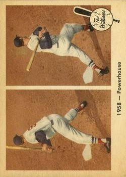 1959 Fleer Ted Williams #66 1958 Powerhouse