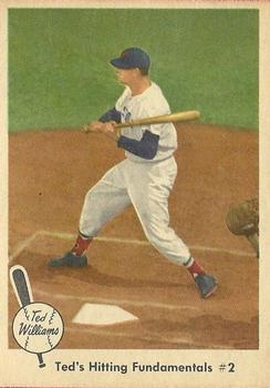 1959 Fleer Ted Williams #72 Hitting Fundamental 2